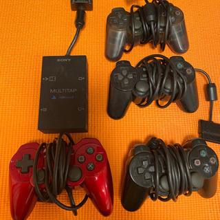 PS2 マルチタップ コントローラー4個 セット