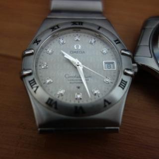 オメガ ダイヤモンド入り腕時計