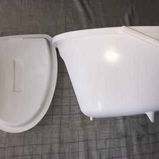 介護ポータブルトイレ消臭剤入りポット(バケツ)新品未使用品…
