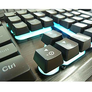 美品【ゲーミングキーボード lcsriya 有線 1680万色R...