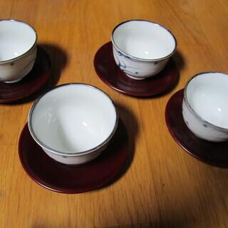 ☆彡 食器 湯吞み茶碗 4個セット 橘 新品 未使用 ☆彡