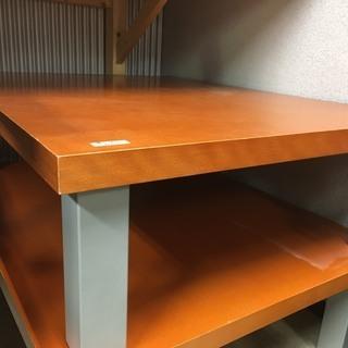 ☆中古 激安!! 座卓テーブル 木製 オレンジ インテリア家具 ...