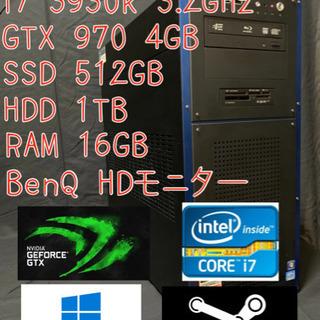 衝撃価格 周辺機器コミコミ i7 3930k GTX970 ゲー...