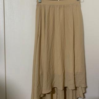 【値下げ】透け感ベージュスカート