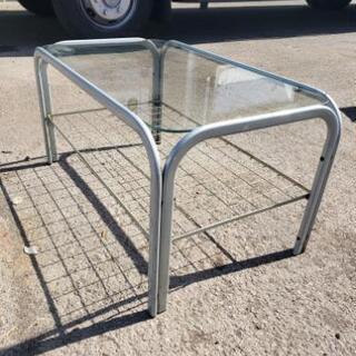 ♦ガラステーブル♦サイズ、約380mm(高さ)×約430mm(縦...
