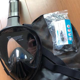 シュノーケルマスク180°自由呼吸スポーツカメラ対応男女兼用耳栓...