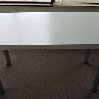 【オフィス家具、無料】平デスク白④