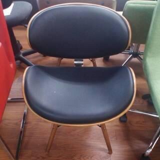 黒革×木製 チェア 椅子