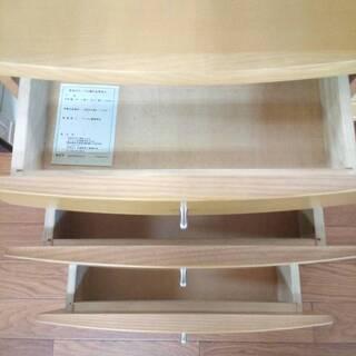 木製収納棚(3段) コンセント付き - 福岡市