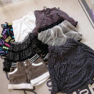 160cm 女児 スカート、パンツ