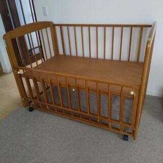【ベビーベッド】お譲りします 難あり 新生児~4、5ヶ月頃に