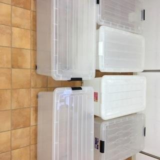 コロ付きクリアボックス 収納ケース 6個