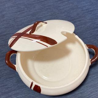 レトロな蓋付きシチューポット 陶器