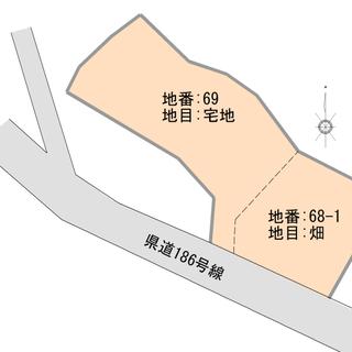 敷地約755坪の建築条件なしの売地(古屋付)