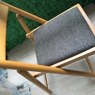 不二貿易 折り畳みチェア 高さ43cm
