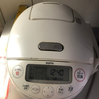 Sanyo 炊飯器5合 無料です!