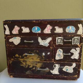超アンティーク 漆塗り金蒔絵 裁縫箱