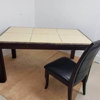 天然木 大理石テーブル 椅子4脚セット 定価約20万 東京 神奈...