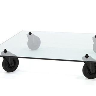 Cassina CON RUOTE ガラスローテーブル