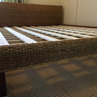 ウォーターヒヤシンス クイーン ベッド アジアン家具