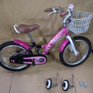 【美品】子供用 18インチ自転車  補助輪付き マルキン製