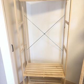 木製ハンガーラック ニトリ 組み立て済み