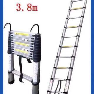 61 伸縮はしご 最長2m〜5m 耐荷重150kg 持ち運びやす...