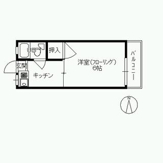 ♬六本松(鳥飼)4F 1K / 初期費用0円 / 水道無料 / ...