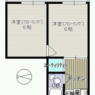 ♬六本松(鳥飼)1F 2K  / 訳あり / 初期費用0円 / ...