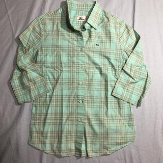 ラコステ 7分袖チェックシャツ レディース 38サイズ