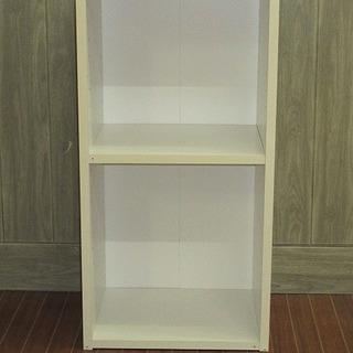 stp-0277 カラーボックス 2段 ホワイト 収納ボックス ...