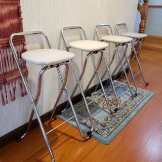 カウンターハイチェアー折りたたみ椅子