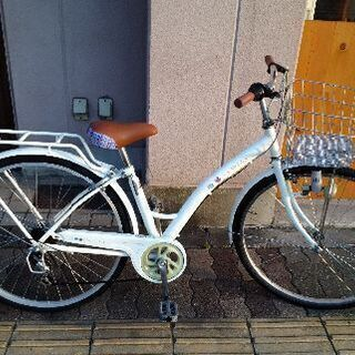 SCALARE STYLE 26吋 ジュニア自転車 外装6段/ホワイト