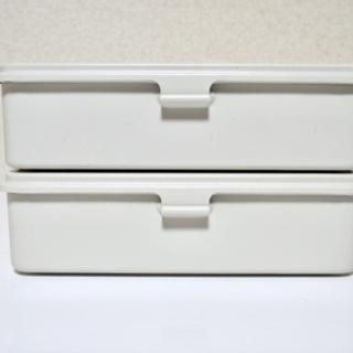 【無印良品】スチール工具箱(1) 2個セット 約幅20×奥行1...