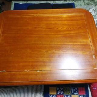 ◆テーブル高さ2段階 コタツ付120㎝-90㎝-41㎝