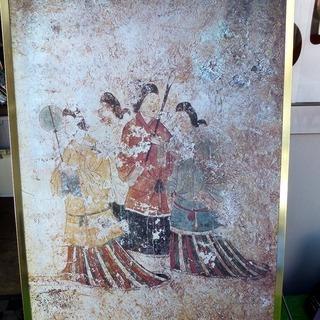 飛鳥高松塚壁画(西壁面北側)女子像 プリントパネル 中古