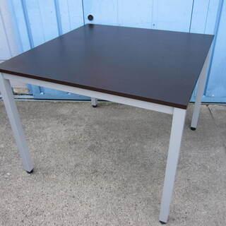 会議テーブル ダークブラウン 4本脚