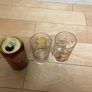 119、昭和レトロなグラス(オルガンヤ  )チビネコ 2個 − 岡山県