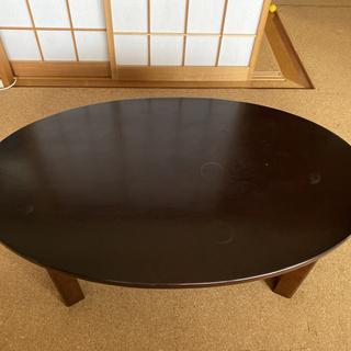 楕円型 ローテーブル やや汚れあり