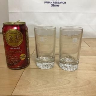 134、昭和時代の 木村屋グラス 2個