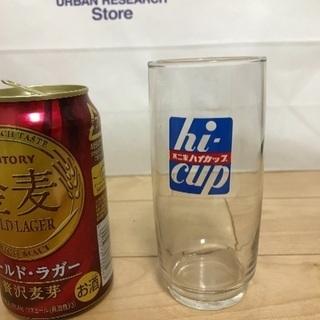 135、昭和レトロな不二家ハイカップグラス1個