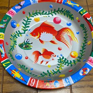 【200円】金魚ブリキ皿