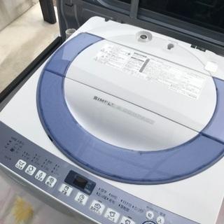 決まりました。2016年製シャープ全自動洗濯機容量7キロ美品。千...