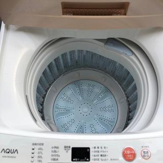 【お買得美品】AQUA AQW-BK50E 全自動洗濯機 …