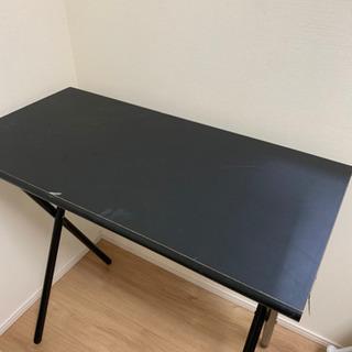 折り畳みテーブル黒 40×80cm