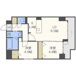 🏡中央区 都市ガス⭐️人気の2LDKマンションに空室です(*´-`*)