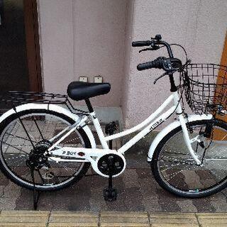 PETITBOY 24吋ジュニア自転車 外装6段/ホワイト