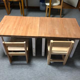【1セット売約済み】テーブルとイスのセット ハンドメイド