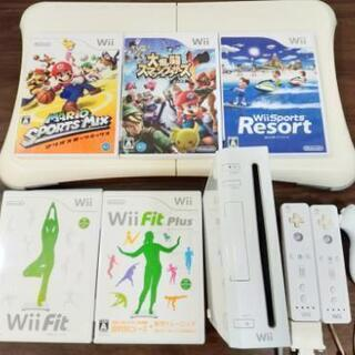 【Wiiセット】本体+ソフト7本+ボード
