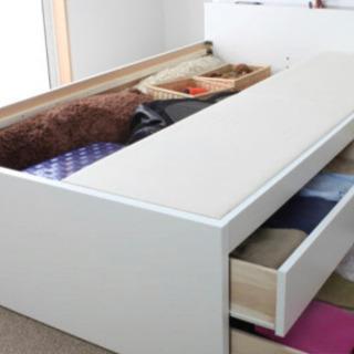 新品  収納付きシングルベッド